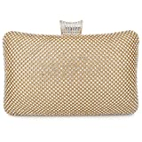 BAIGIO Sparkle Rhinestone Evening Clutch Purse Elegant Diamante Evening Bag Party Wedding Purses Handbag for Women (Gold)