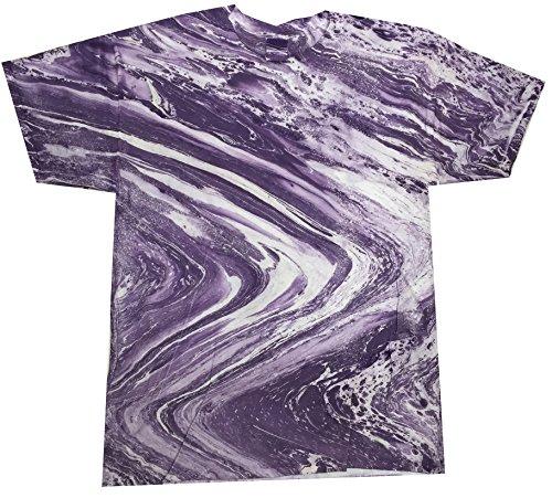 Colortone Tie Dye T-Shirt XL Marble Purple