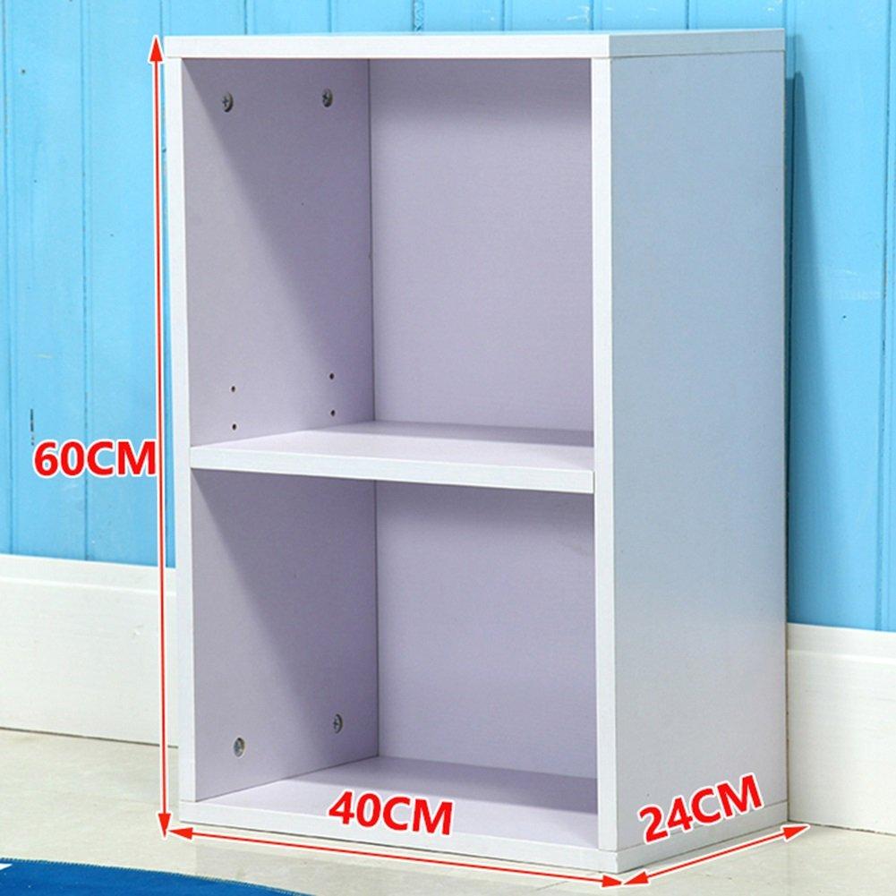 子供の本棚棚シンプルなストレージロッカーブックケース無料の本棚の本棚分冊の3つの組み合わせ (色 : 白) B07FXL6JLG 白