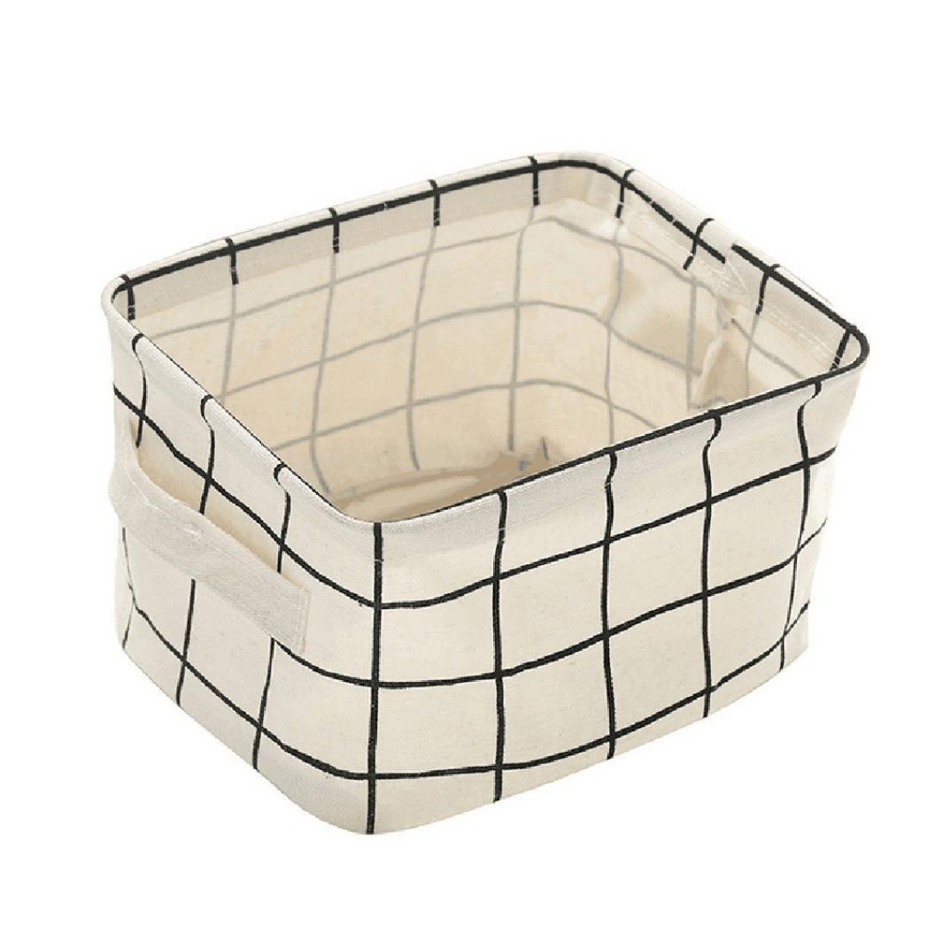 Clearance Storage bins,AIEason Foldable Storage Bin Closet Toy Box Container Organizer Fabric Basket (White)