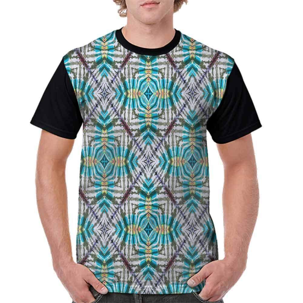 BlountDecor Loose T Shirt,Tie Dye Flower Figures Fashion Personality Customization
