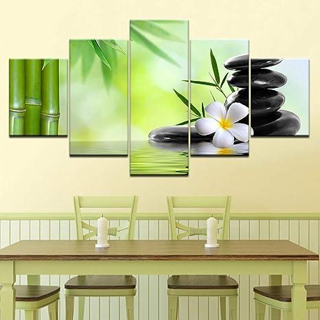 Giunuan Bambú Zen Stones Wallpaper 5 Piece Wallpapers