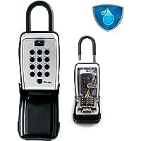 Master Lock Draagbare sleutelkluis [Extra veiligheid] [Weerbestendig - Buiten] [Druktoetscombinatie]- 5422EURD…