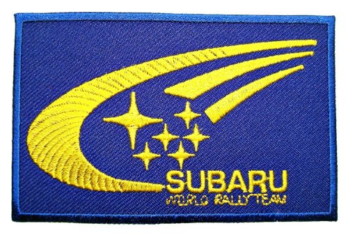 SUBARU World Rally Team Accessories Clothing Patch Sew Iron on Logo Embroidered Badge Sign Emblem Costume BY Dreamhigh_skyland (Rally Sign)