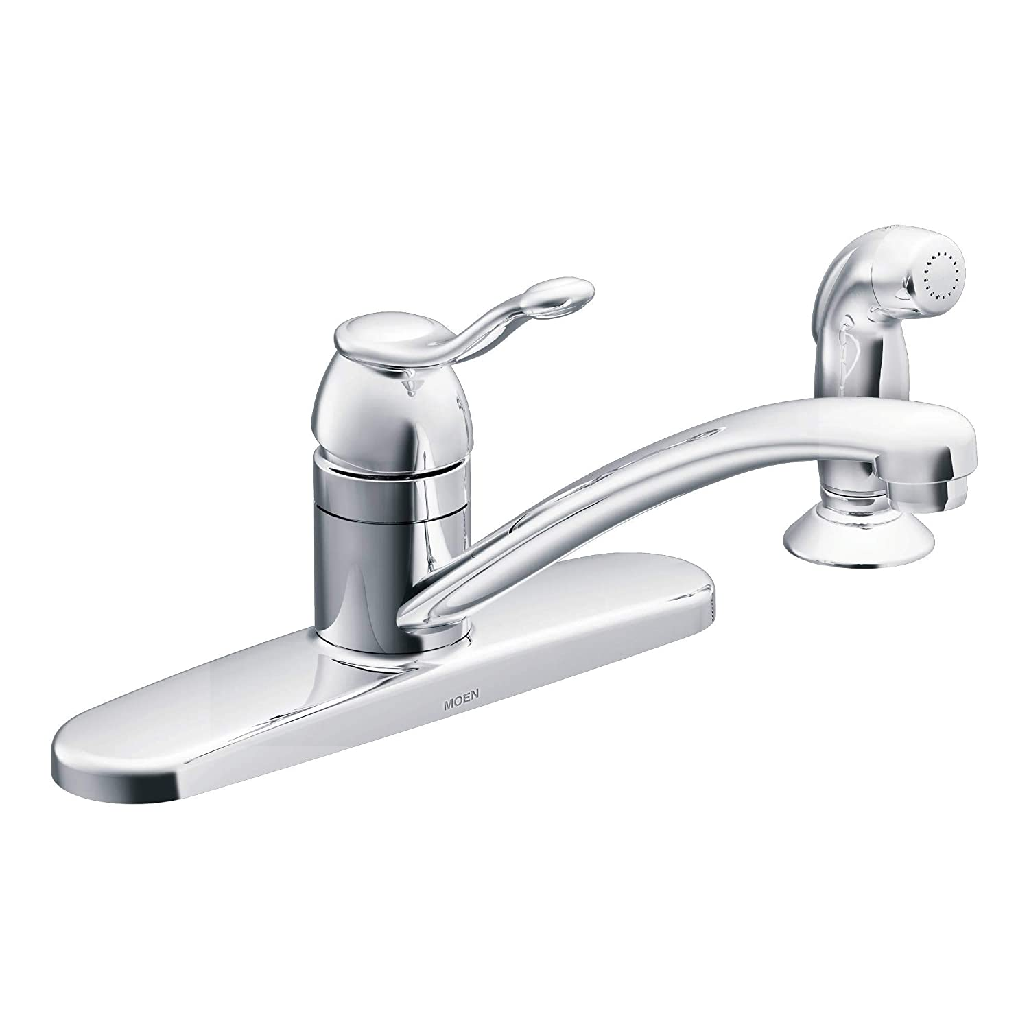 Moen CA87016 Kitchen Faucet with Side Spray from the Adler Collection, Chrome