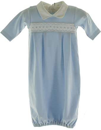 4873de9f2143 Amazon.com  Kissy Kissy Infant Baby Boys Blue Smocked Take Home ...