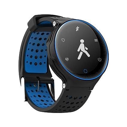 OOLIFENG Pulseras inteligentes Impermeable Presión sanguínea Reloj Bluetooth Monitor de pulso cardiaco SmartBand Natación IP68 para
