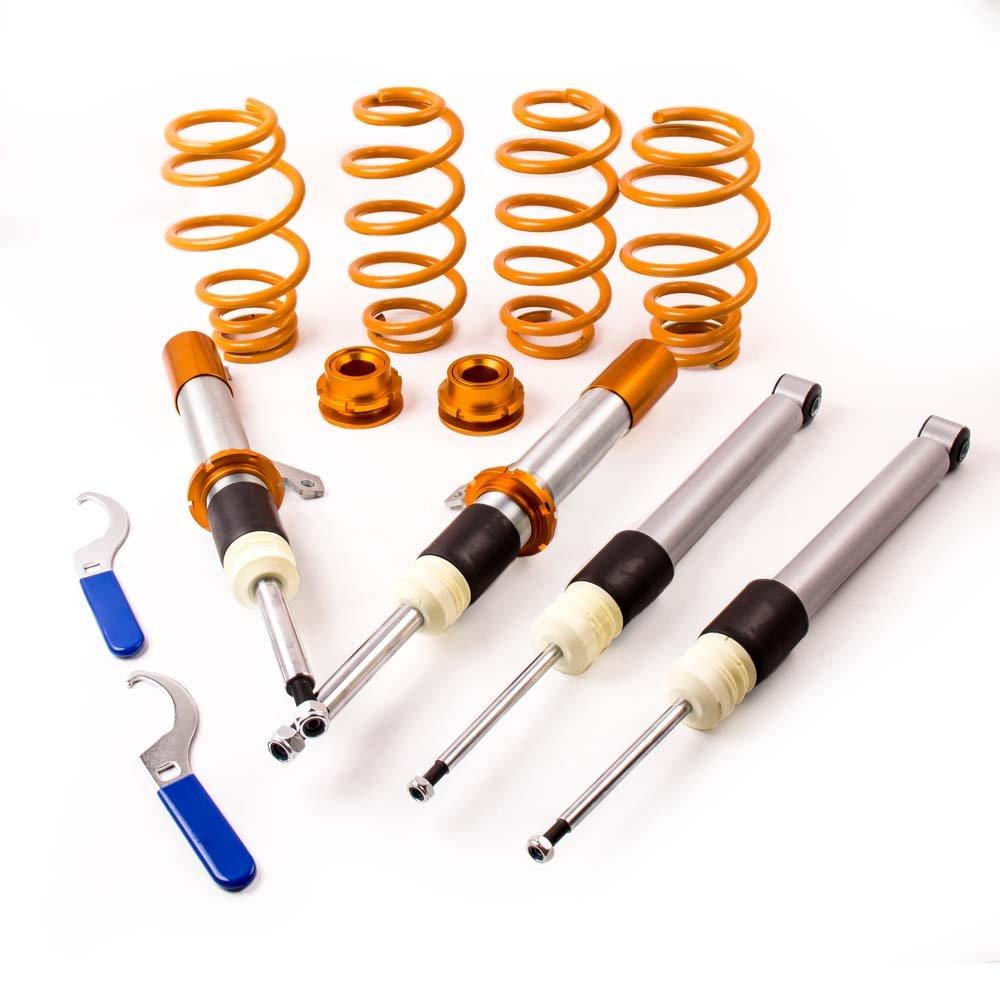 maXpeedingrods 50//55mm Coilover Suspension Shock Absorber for Jetta MK5 1KM 2004 2005 2006 2007 2008 2009 2010 Gold