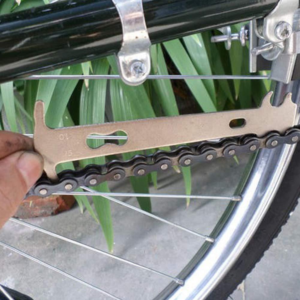 WE-WIN Herramienta de indicador de Grado de Desgaste de Cadena de Bicicleta port/átil Comprobador de galgas Herramienta Estirada