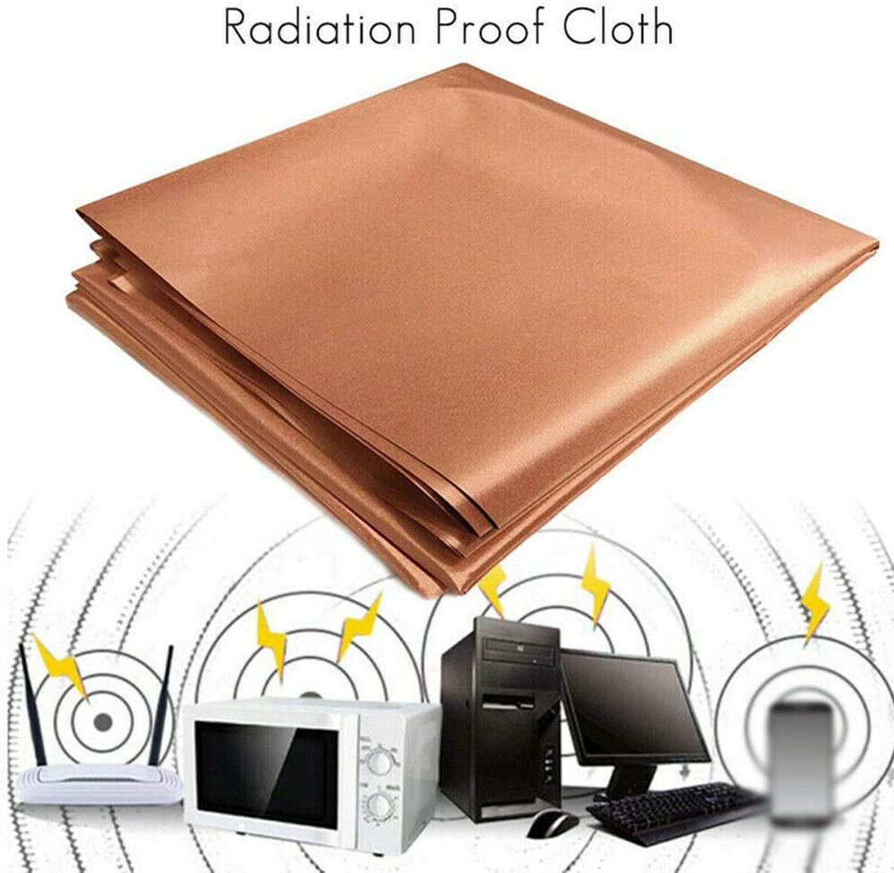 Mworld2 Shielding Fabric, Copper Fabric Blocking RFID/RF-Reduce EMF/EMI Protection, Conductive Fabric for Blocking RF Signals from Smart Meters, Radiation/Singal/WiFi