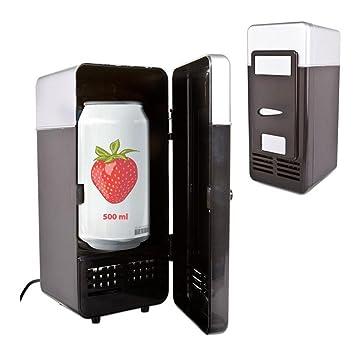 FINLON Mini frigorífico con congelador Mini USB refrigerador ...
