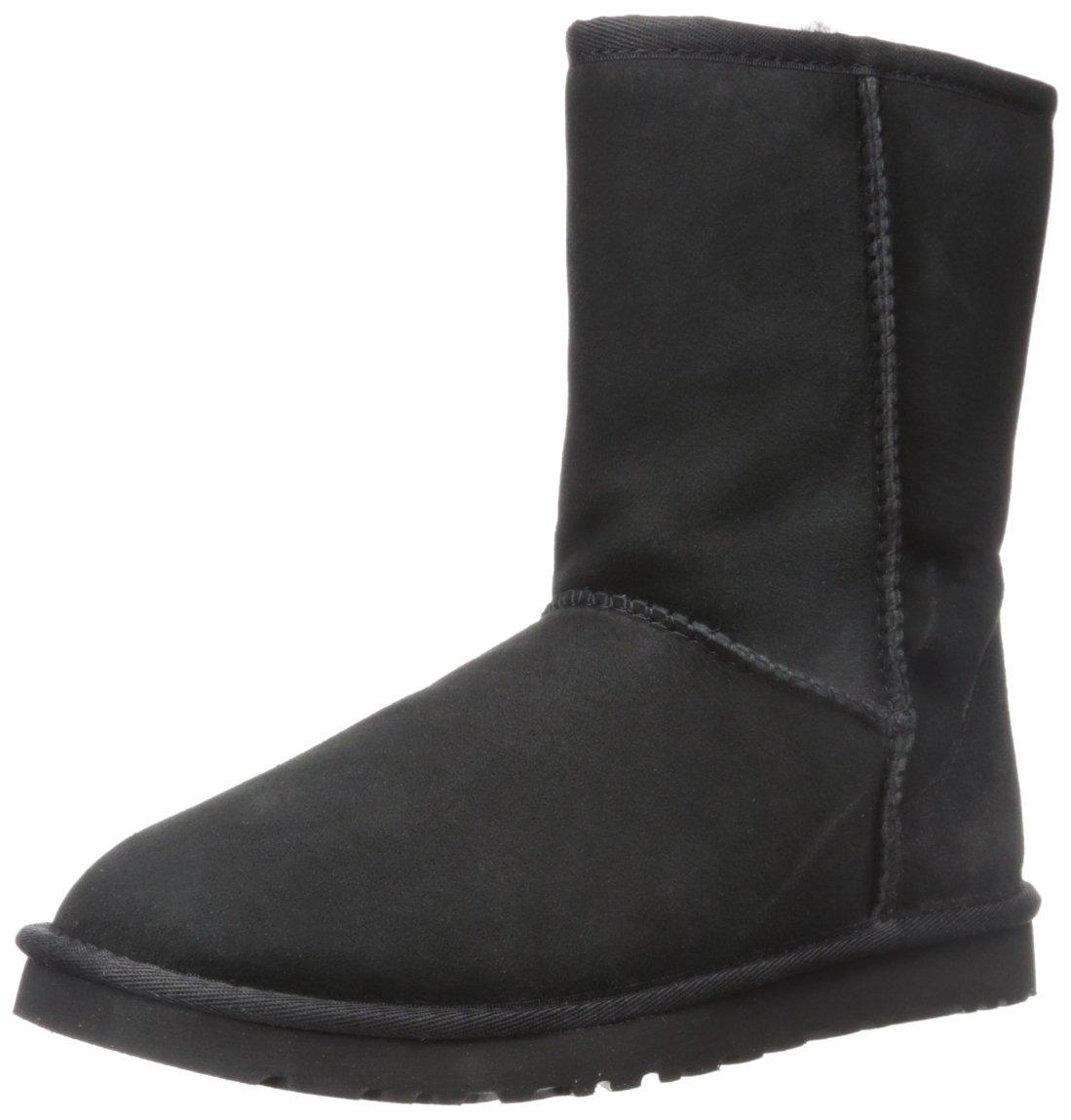 UGG Men's Classic Short Sheepskin Boots, Black, 11 D(M) US by UGG