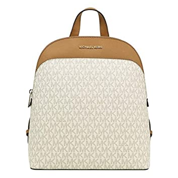 fa862d246e74 Image Unavailable. Image not available for. Color: MICHAEL Michael Kors  Emmy Large Leather Signature Backpack ...