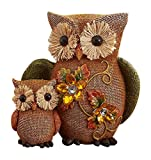 KNL Store Fall Jeweled Shelf Table Top Sitter Thanksgiving Autumn Home Accent Decoration (Owls)
