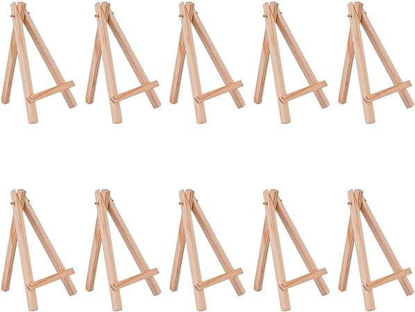 YOTINO 20 Pezzi Mini cavalletto in Legno Piccola Lavagna Display cavalletto Foto da Tavolo Posto Porta Carte Porta Foto Porta Carte Porta Posto Porta Carte Porta Sedile