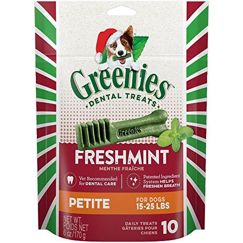 holiday freshmint dental chews petite