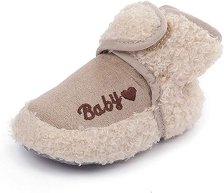MK MATT KEELY Infant Baby Girl Boy Cotton Booties Soft Fleece Booties Grippers Warm Non-Slip Stay On Slippers Newborn