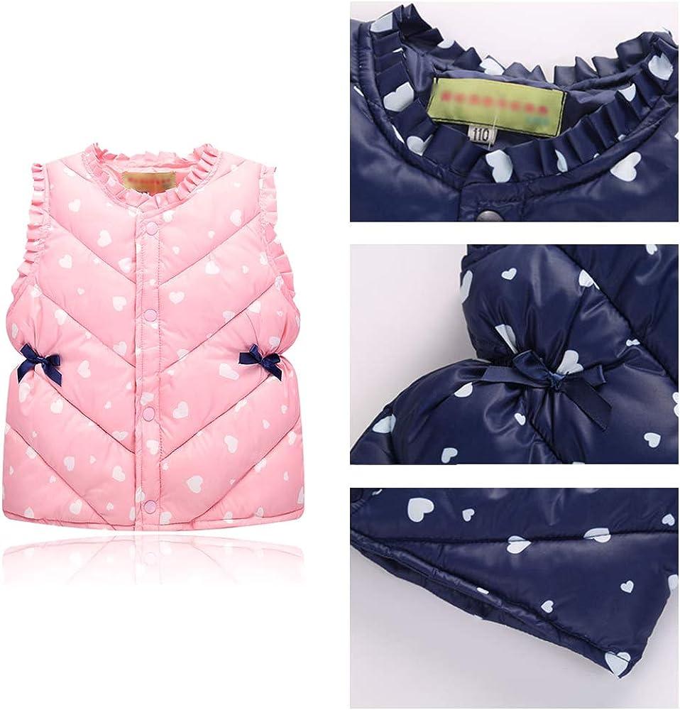 KINDOYO Baby Girls Boys Vest Gilet Comfortable Kids Sleeveless Coat Jacket