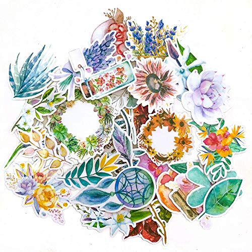 (Navy Peony Garden of Dream Catcher, Spring Flower Plant and Nature Stickers | Cute Boho Stickers for Your Water Bottles, Laptops and Phones | Artsy Decals for Your Scrapbook and Planners (32 Pieces))