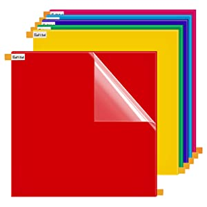 """12""""x12"""" Colored Acrylic Plexiglass Sheet - 1/8"""" Thick, Gartful Plastic Square Panel Multipurpose Plexi Square Board for Crafting Projects, Table Signs, Cricut Cutting, Home Decor, 6 Colors"""