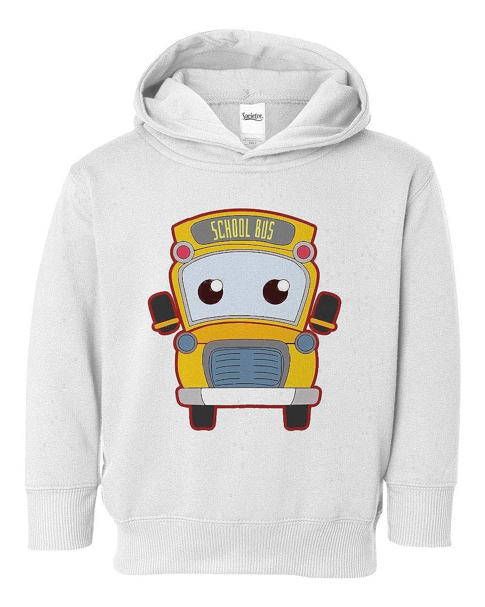 Societee Golden School Bus Girls Boys Toddler Hooded Sweatshirt