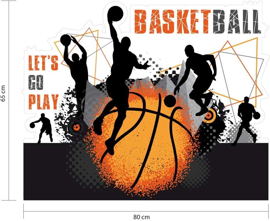 Protection Anti-UV Dimensions 65 cm x 80 cm Sticker T/ête de Lit pour Chambre denfant Basketball Personnalisable avec Le Pr/énom De Votre Enfant