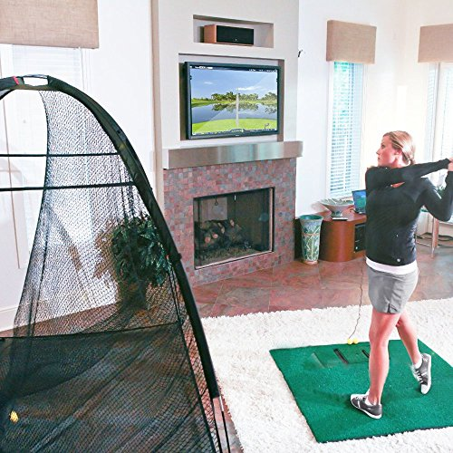 OptiShot2 Golf Simulator for Home with Net and Mat (Golf In a Box)