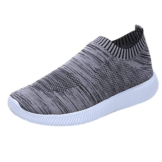 beautyjourney Zapatos Deportivos de Malla para Exterior Zapatillas Transpirables para Correr Zapatillas Slip-On Calzado Casual Suave de Color sólido: ...