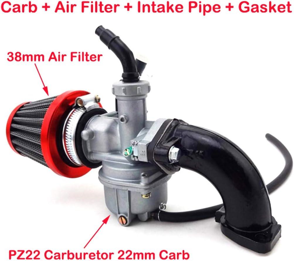 AISEN PZ22 Carburateur 22 mm avec filtre /à air pour quads ATV Pit Dirt Bike Quad Go 110 cc 125 cc 140 cc 150 cc
