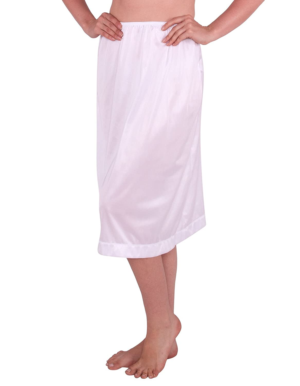 Womens Maxi Long Soft Adjustable Waist Anti-Static Everyday Half Slip