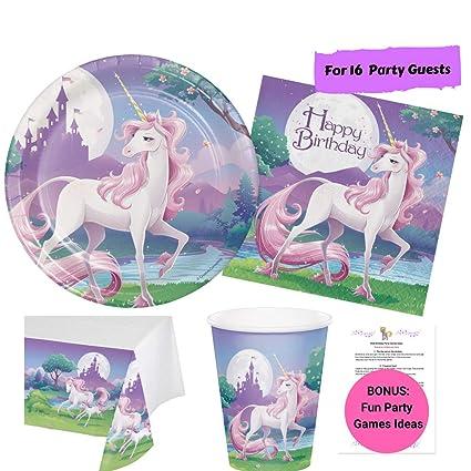 Amazon.com: Unicornio suministros para fiestas para niños ...