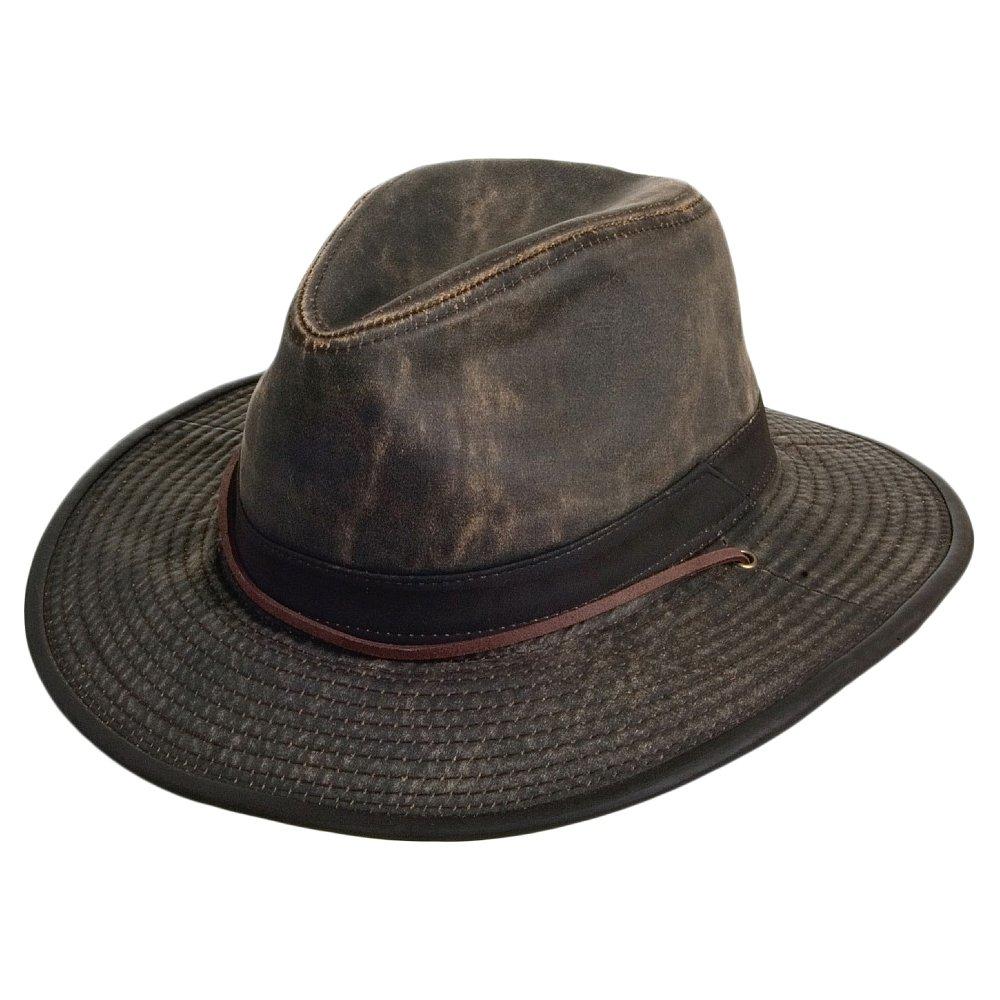 d3824ca43 Dorfman-Pacific Hats Weathered Cotton Aussie Hat - Brown
