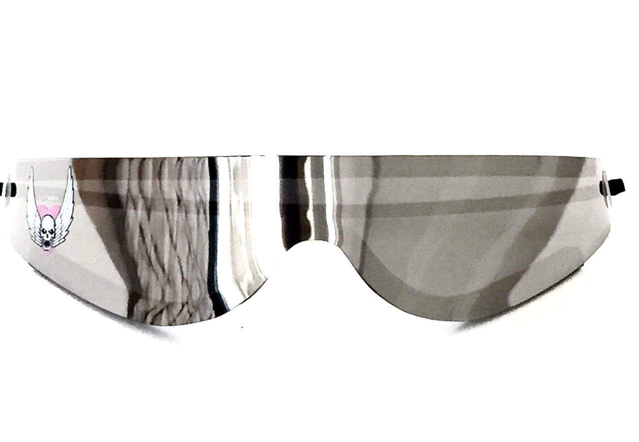 Bret Hitman Licensed Silver Hart Wrap Around Shades Sunglasses New by Bret Hart