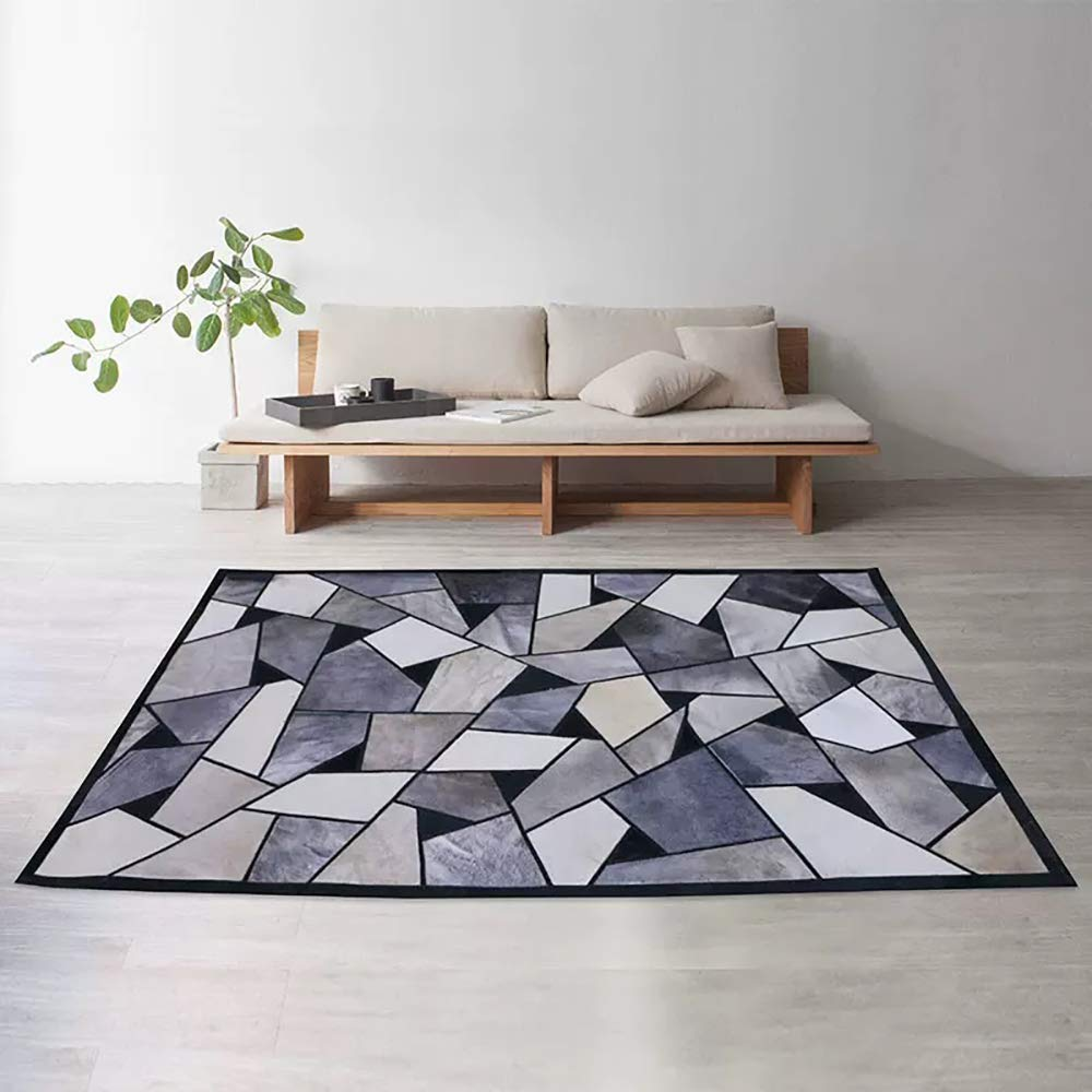 Amazon.com: Genuine Cowhide Rug Black and White for Living ...