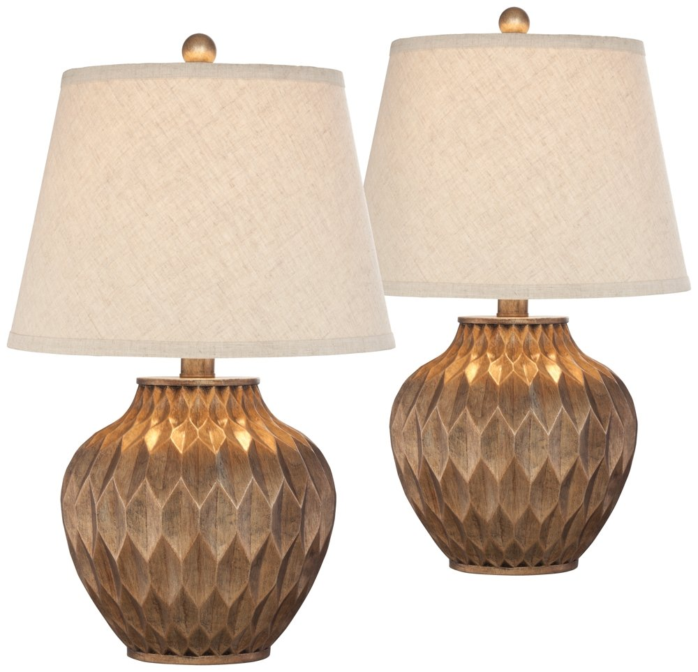 Buckhead Bronze Small Urn Accent Table Lamp Set of 2 by 360 Lighting