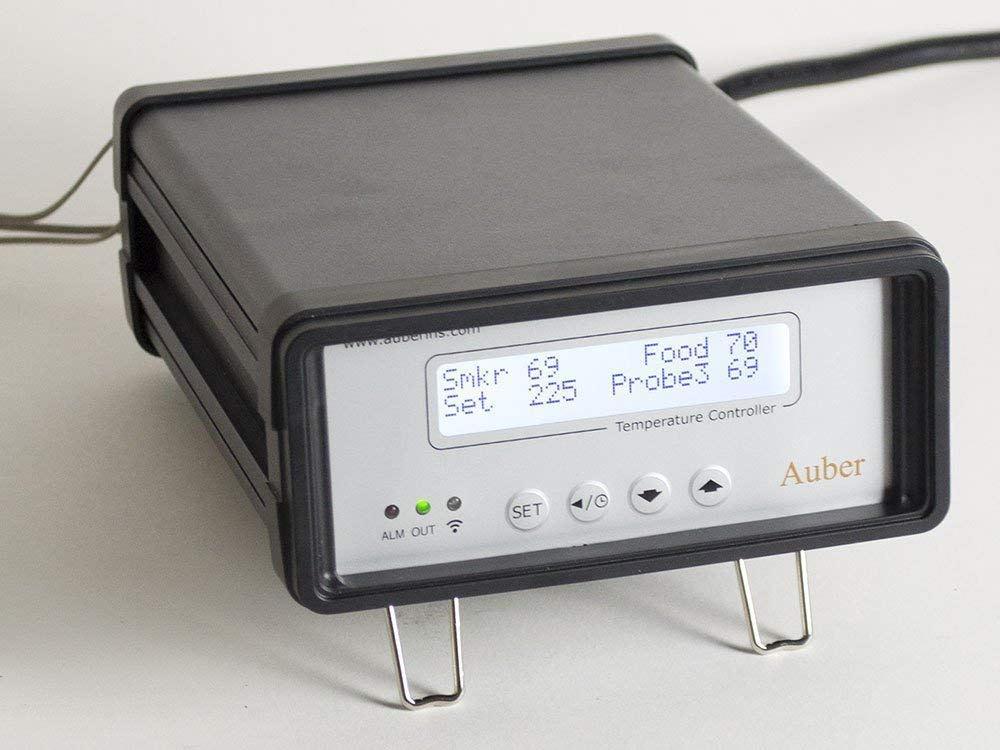 WiFi Electric Smoker Temperature Controller, 3 Probes, 1800 Watts (Probe 1: Wall-mount)