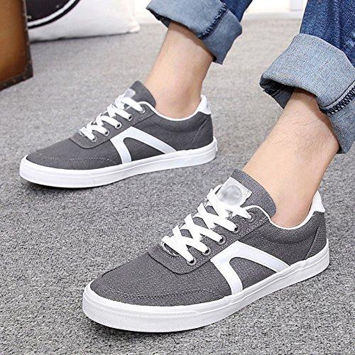 casual uomo studenti scarpe scarpe traspiranti da tela di Grigio scarpe scarpe scuro da tendenza Scarpe di estive uomo XFF uomo scarpe da qF76xAESz