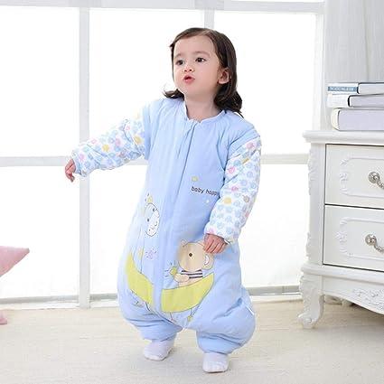 Gleecare Saco de Dormir para bebé,Algodón Invierno Manga Desmontable bebé Tejido Anti-Kick