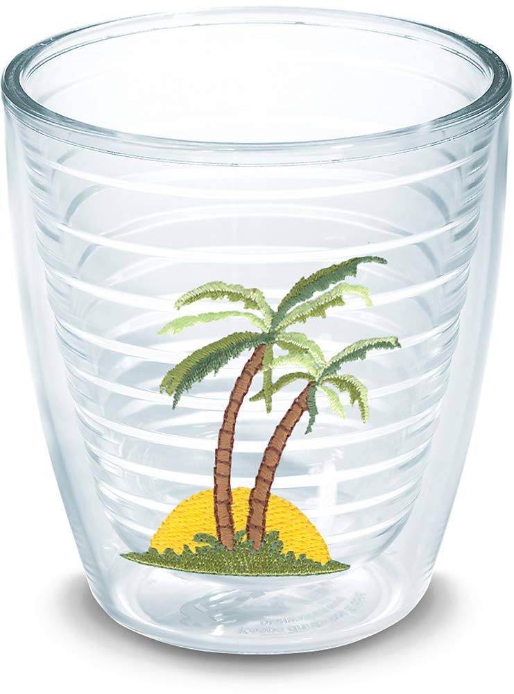 Tervis 1040391 Margaretville-Its 5 OClock Somewhere-Clock Boxed 4 Pack 12 oz Insulated Tumbler with Emblem Clear