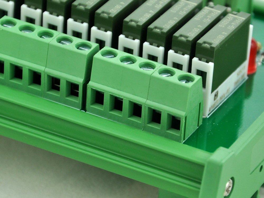 PA1a-12V ELECTRONICS-SALON Slim DIN Rail Mount DC12V Sink//NPN 8 SPST-NO 5A Power Relay Module