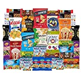 Healthy Snacks Care Package Snack Box for College Students, Christmas, Gift Basket, Fathers Day, Get well, Military and Back to School with Chips, Cookies, Granola Bars and Nuts (40 Count)