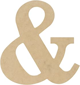 MPI MDF Classic Font Wood Letters and Numbers, 9.5-Inch, Symbol &