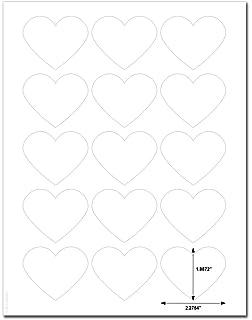 amazon com 1 heart shape white matte labels designed to seal