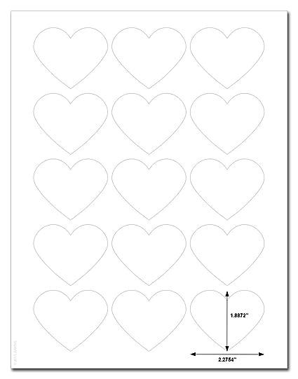 Amazon com : Waterproof White Matte Heart Shaped Labels, 2 2