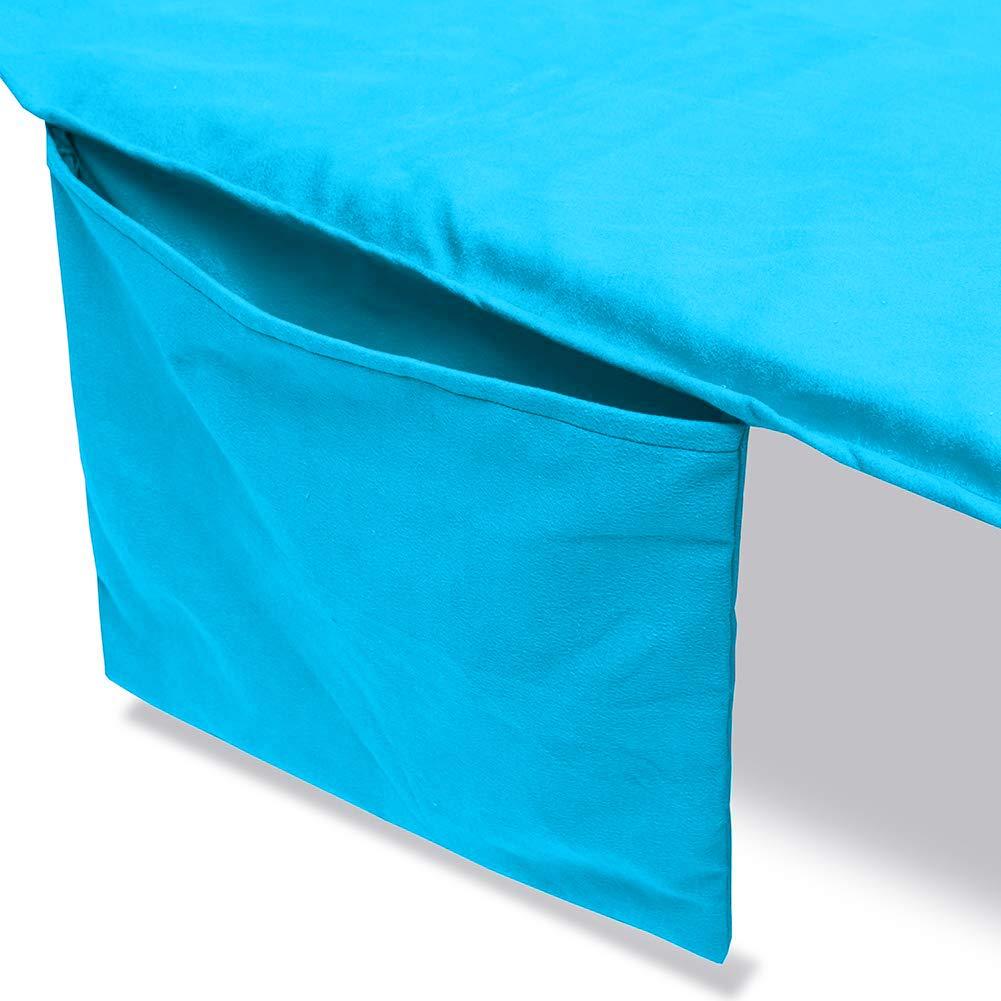 Serviette de Plage Bleu Serviette de Piscine inclinable Housse de Chaise de Patio QEES JJZ664 Housse de Chaise de Plage avec Poche lat/érale 212 L x 75 W cm