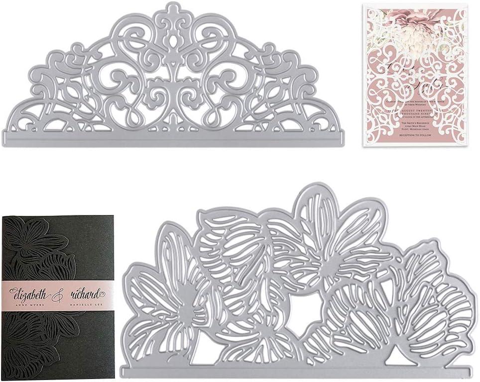 VINFUTUR Fustelle Stencil Cutting Dies per Cartolina Biglietti Auguri Busta da Lettera Inviti Memorie Fai da Te Scrapbooking Goffratura Carta
