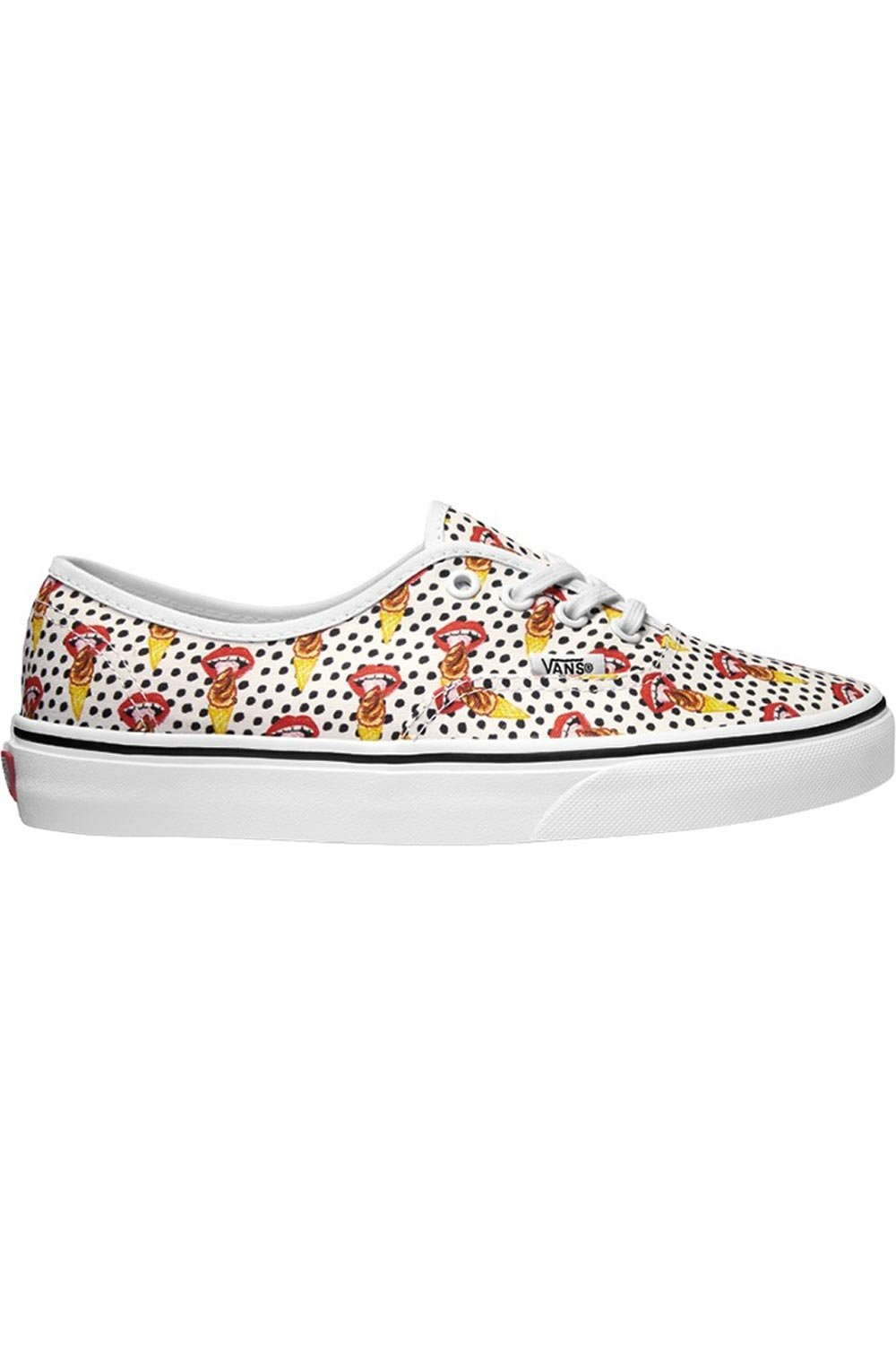 a6f357fdf4 Galleon - Vans Authentic Kendra Dandy I Scream True White Ankle-High Canvas  Skateboarding Shoe - 10.5M 8.5M