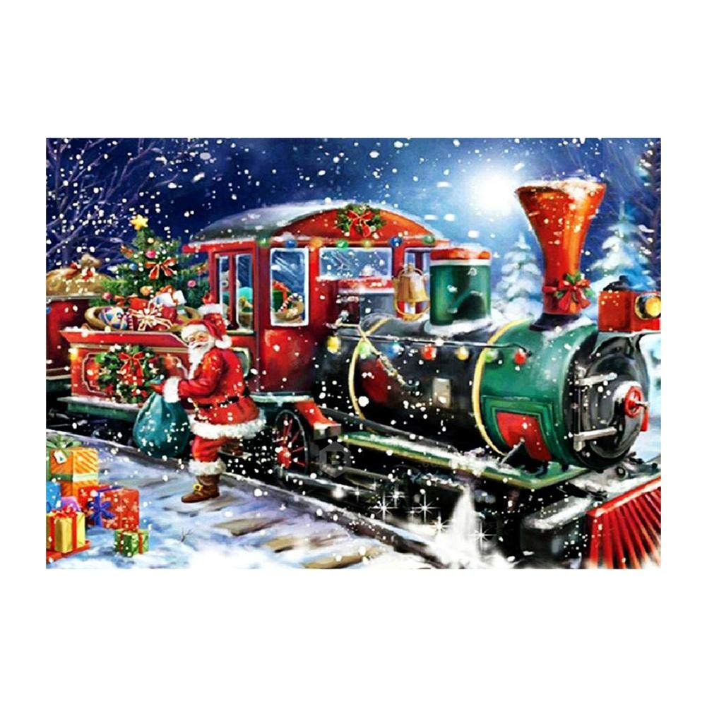 Christmas Train Full Drill Diamond Painting Kits 5D DIY Cross Stitch Embroidery Wall Drawing for Dining Room MKChung