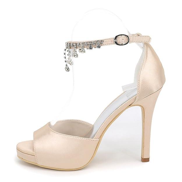 Mujer De Elobaby Damas Stiletto Honor Las Boda Zapatos tZ8nqF