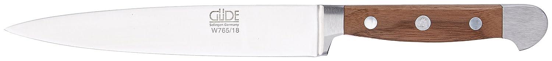Güde Filiermesser, geschmiedet, Serie Alpha, Doppelkropf, Griff Walnussholz